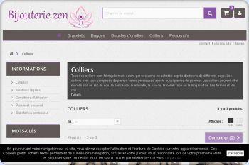 Cliquez pour visiter la page Collier en perles naturelles.