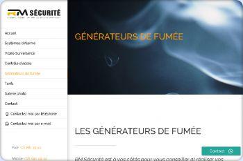 Cliquez pour visiter la page Générateur de fumée.