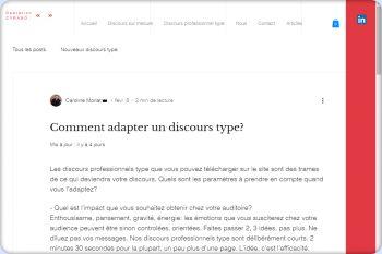 Cliquez pour visiter la page Comment adapter un discours type.