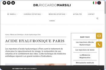 Cliquez pour visiter la page Acide hyaluronique Lausanne.