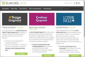 Cliquez pour visiter la page Sites de la régie Elandesjeux.