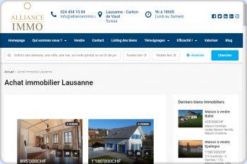 Cliquez pour visiter la page Immobilier Lausanne.