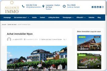 Cliquez pour visiter la page Immobilier Nyon.