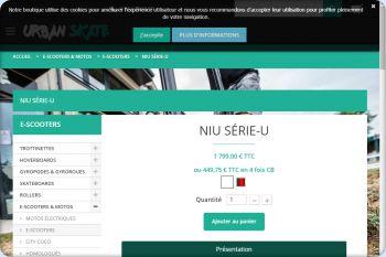 Cliquez pour visiter la page E-scooter Niu.