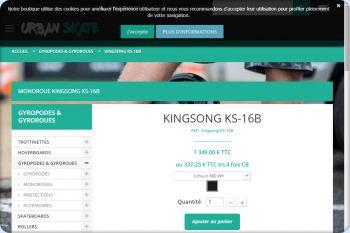 Cliquez pour visiter la page Monoroue Kingsong.
