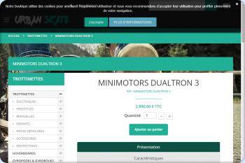 Cliquez pour visiter la page Trottinette électique minimotors dualtron 3.