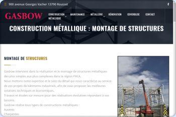 Cliquez pour visiter la page Montage de structures métalliques.