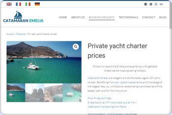 Cliquez pour visiter la page Quel est le tarif de votre croisière en catamaran ?.