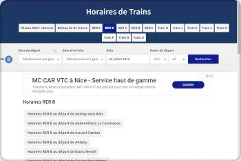 Cliquez pour visiter la page Horaires RER B.