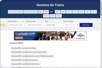 Cliquez pour visiter la page Horaires RER C.