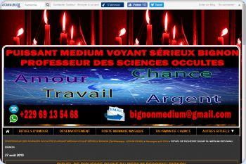 Cliquez pour visiter la page RITUEL DE RICHESSE DIVINE DU MEDIUM RECONNU BIGNON.