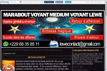 Cliquez pour visiter la page LE GRAND ET PUISSANT MARABOUT MEDIUM VOYANT SÉRIEUX LEWE.