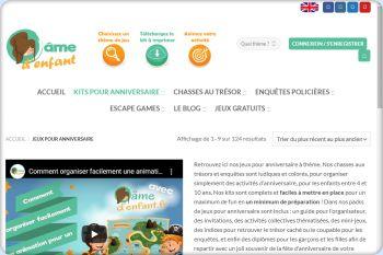 Cliquez pour visiter la page Jeux pour anniversaire.