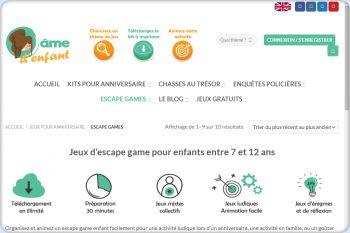 Cliquez pour visiter la page Escape game pour enfants.