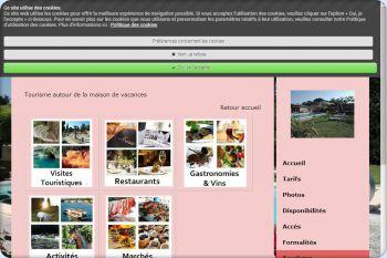 Cliquez pour visiter la page Tourisme autour de la maison de vacances.