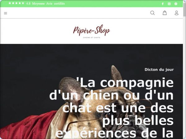 Site hors ligne - Pepere shop