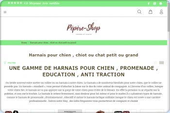 Cliquez pour visiter la page HARNAIS POUR CHIEN .