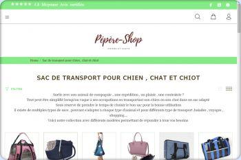 Cliquez pour visiter la page SACS DE TRANSPORT CHIEN OU CHAT.