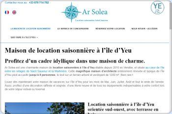 Cliquez pour visiter la page Location saisonnière à l'île d'Yeu.