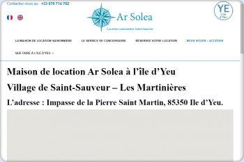 Cliquez pour visiter la page Villa de location à Saint-Sauveur sur l'île d'Yeu.