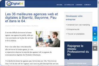 Cliquez pour visiter la page Agences digitales dans le 64.