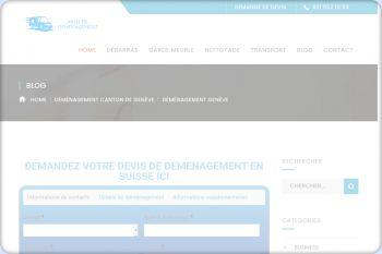 Cliquez pour visiter la page Déménagement à Genève.