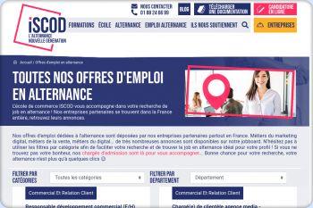 Cliquez pour visiter la page Les offres d'emploi en alternance.