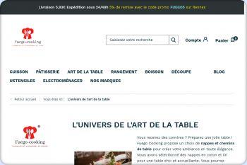 Cliquez pour visiter la page L'art de la table.