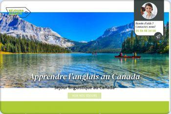 Cliquez pour visiter la page Séjour linguistique Canada, apprendre l'anglais au Canada.