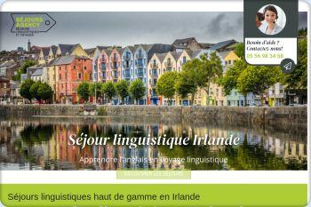 Cliquez pour visiter la page Séjour linguistique irlande.