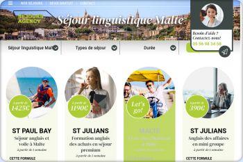 Cliquez pour visiter la page Séjour linguistique Malte.